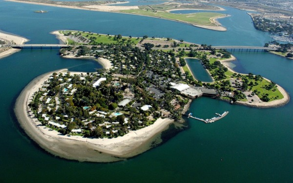Aerial view of Paradise Point
