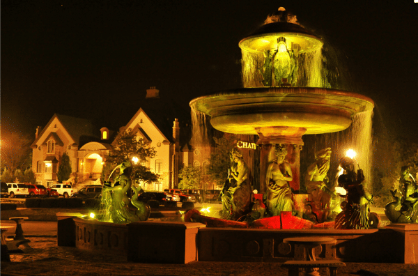 Chateau Avalon at night