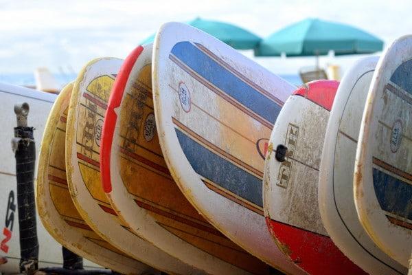 Surfboards on Waikiki