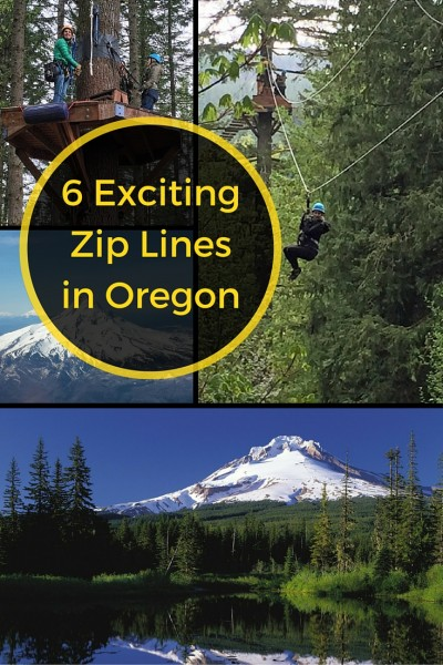 Imagine the travel adventure as you go zipping through the canopy of a fir forest on your visit to the Portland, Oregon area. Check out these 6 great Zip Line tours in the shadow of Mount Hood. #adventure #zipline #zipping #Oregon #Portland #PNW #PacificNorthwest #FamilyTravel