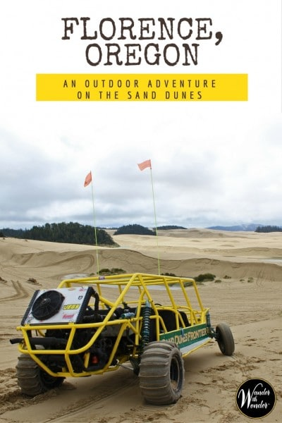 An outdoor adventure awaits on the Florence, Oregon dunes, tucked between the Douglas fir forests along the Siuslaw River and the wild ocean beaches. #PNW #PacificNorthwest #Oregon #adventure #sanddunes