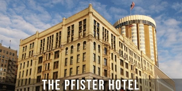 The Pfister Hotel—luxurious and opulent—looks as if it was plucked out of Europe during the Victorian era and dropped into downtown Milwaukee.