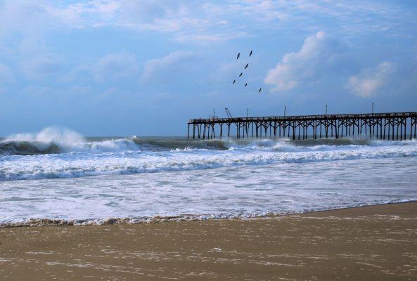 Carolina Beach Pier with waves - Photo by Sheila Nicholson - Town of Carolina Beach