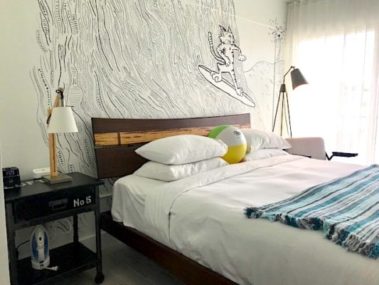 Fun modern rooms at Plunge Beach Resort in Lauderdale-by-the-Sea. Photo by Penny Sadler