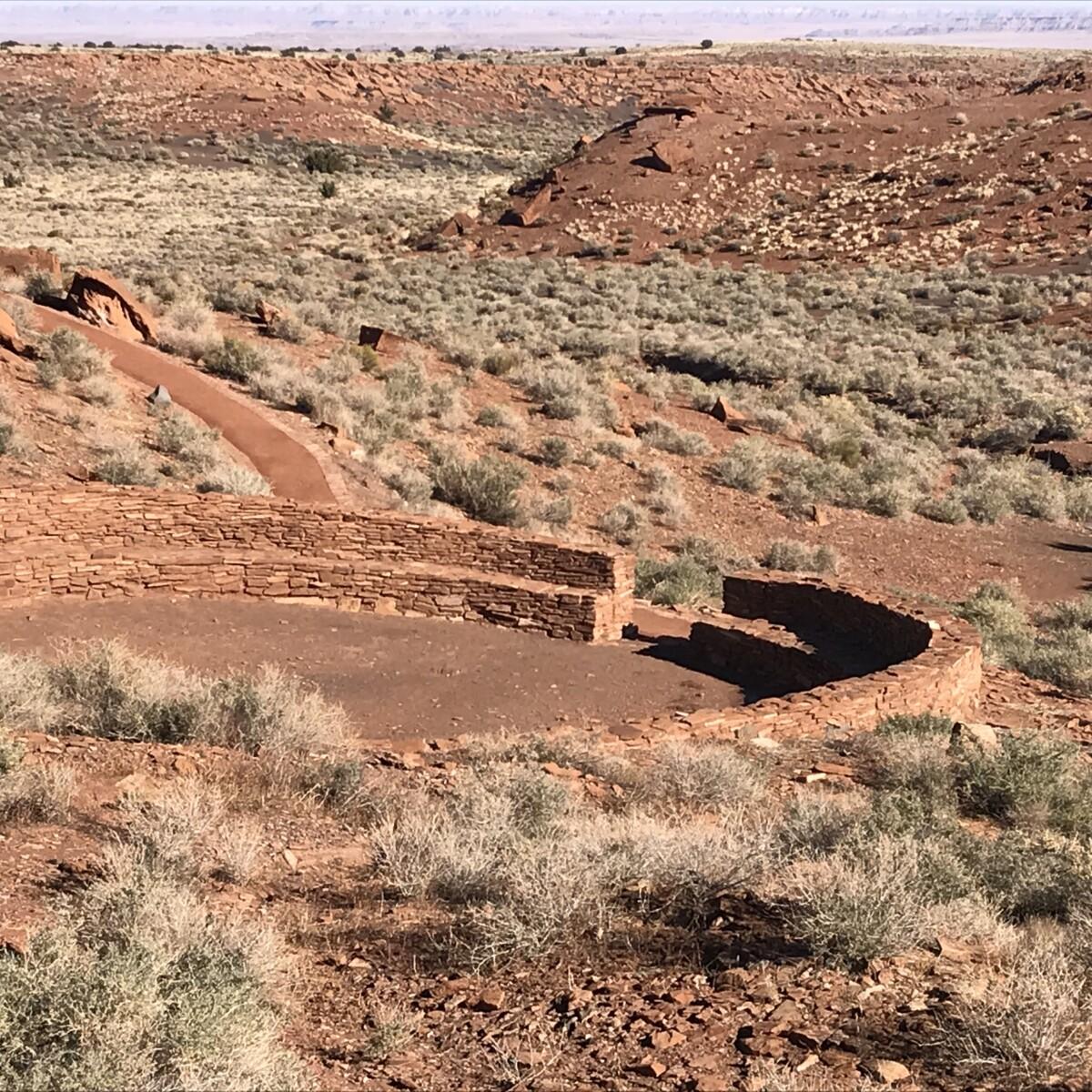 Wupatki Pueblo Kiva - Northern Arizona Road Trip