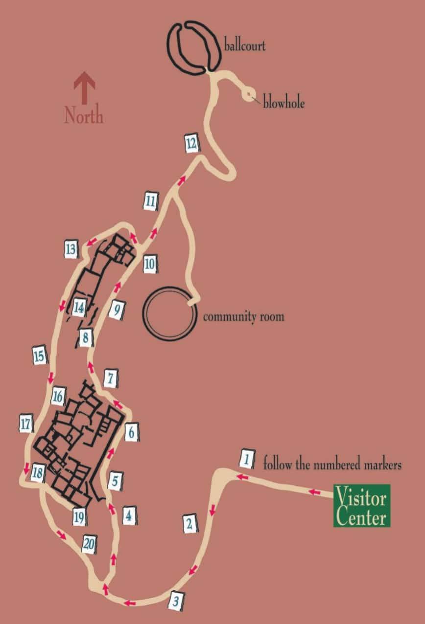 Map of Wupatki National Monument - Northern Arizona Road Trip