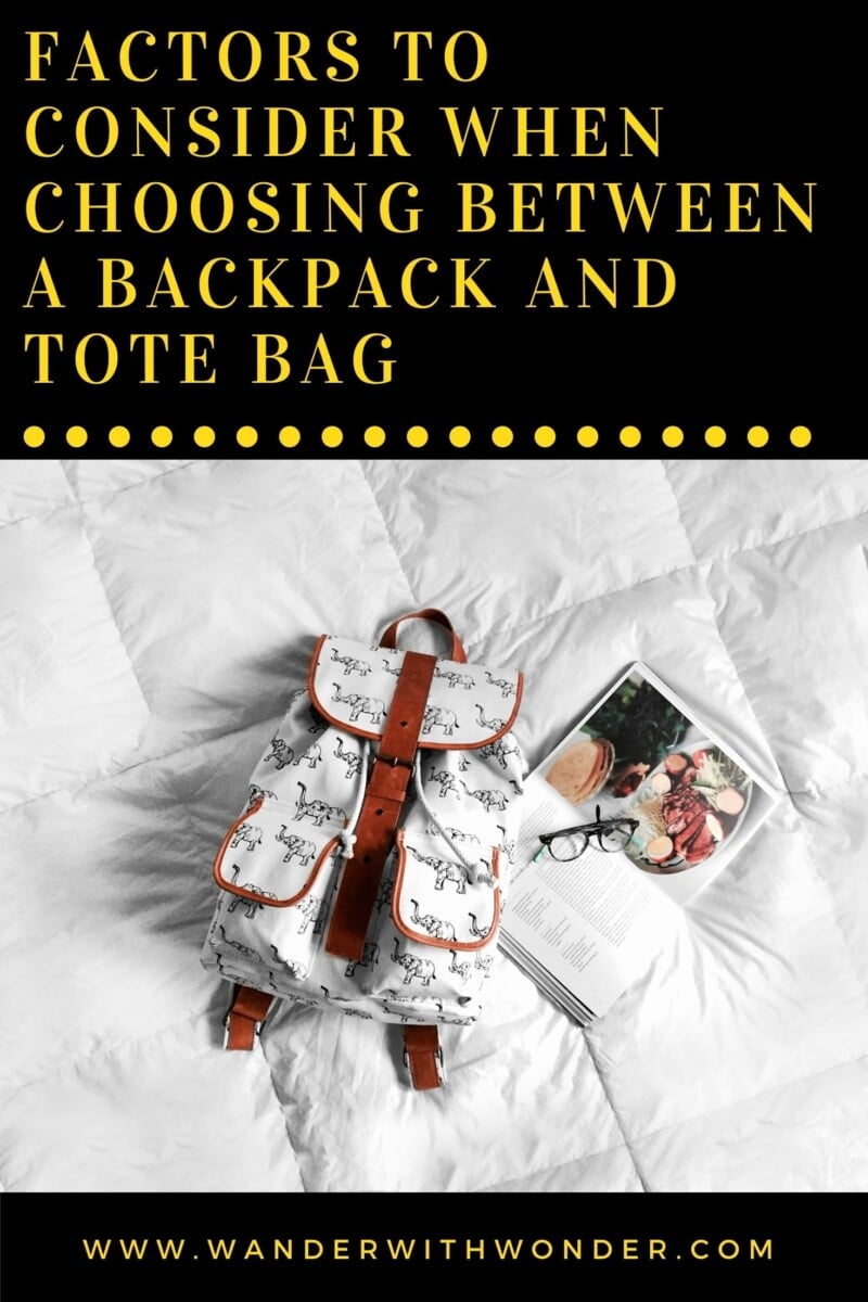 When choosing a bag that best suits you for college, you need to consider several things. Some of the most common bags used for college (and for travel) are backpacks and tote bags, but do you know the one that perfectly suits you? Let us look at the factors to consider when choosing a bag that best fits your needs.
