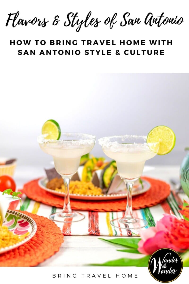It's time for margaritas! While good Mexican food can be found in all the major cities of Texas, nothing beats San Antonio for a south of the border experience without leaving the USA. When I visit San Antonio, I feel myself relaxing into a slower way of life. That means taking a siesta in the afternoon, followed by happy hour margaritas. Here are my suggestions on what to do when you visit San Antonio—or how to bring home some San Antonio culture even if you can't visit right now.