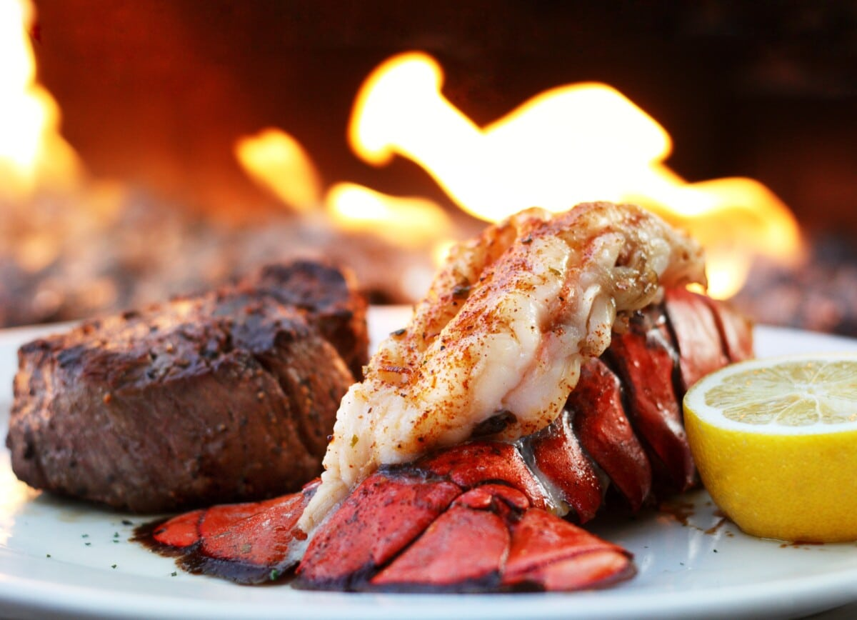 Ocean Prime Filet and Lobster Tail.