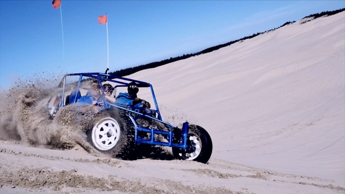 Riding the dunes in a buggy is one of the things to do in Coos Bay.