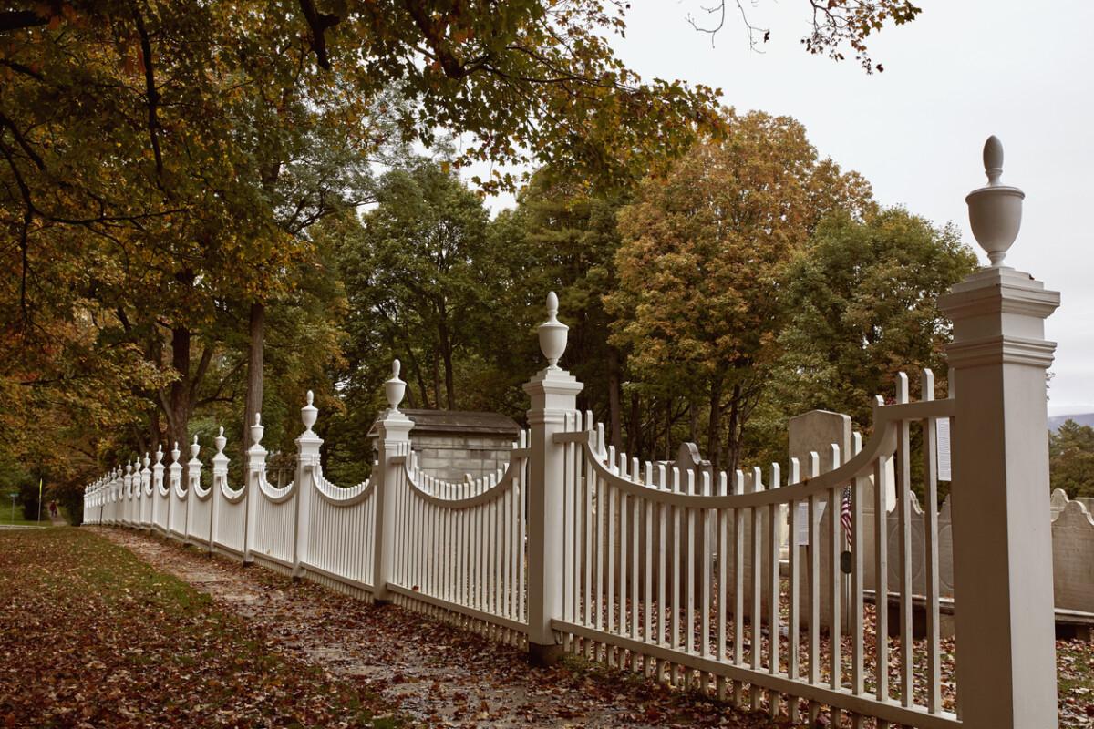 fenced cemetery in Bennington, Vermont