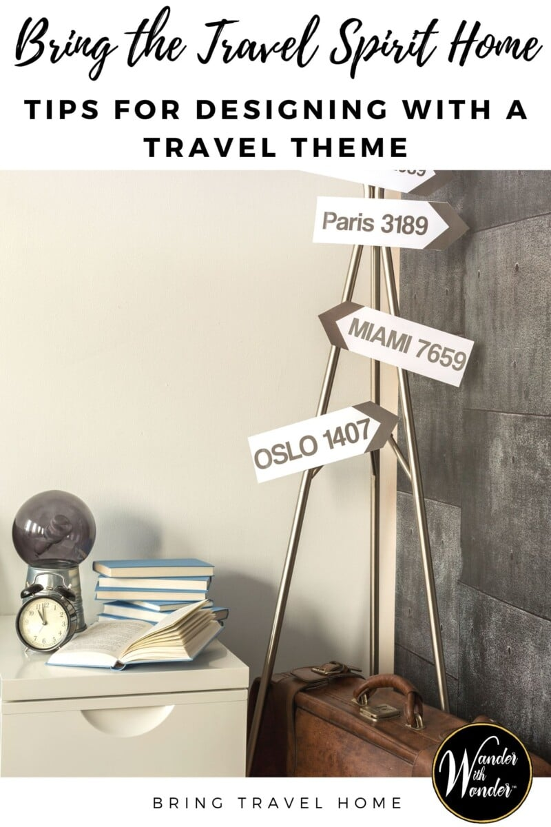 Looking to keep the travel spirit at home? Any room in the house can be decorated to honor that travel lifestyle with these tips for designing with a travel theme. A travel theme often works best for the living room and nursery. But other rooms offer great opportunities for travel touches. These tips offer great ways to bring travel home.