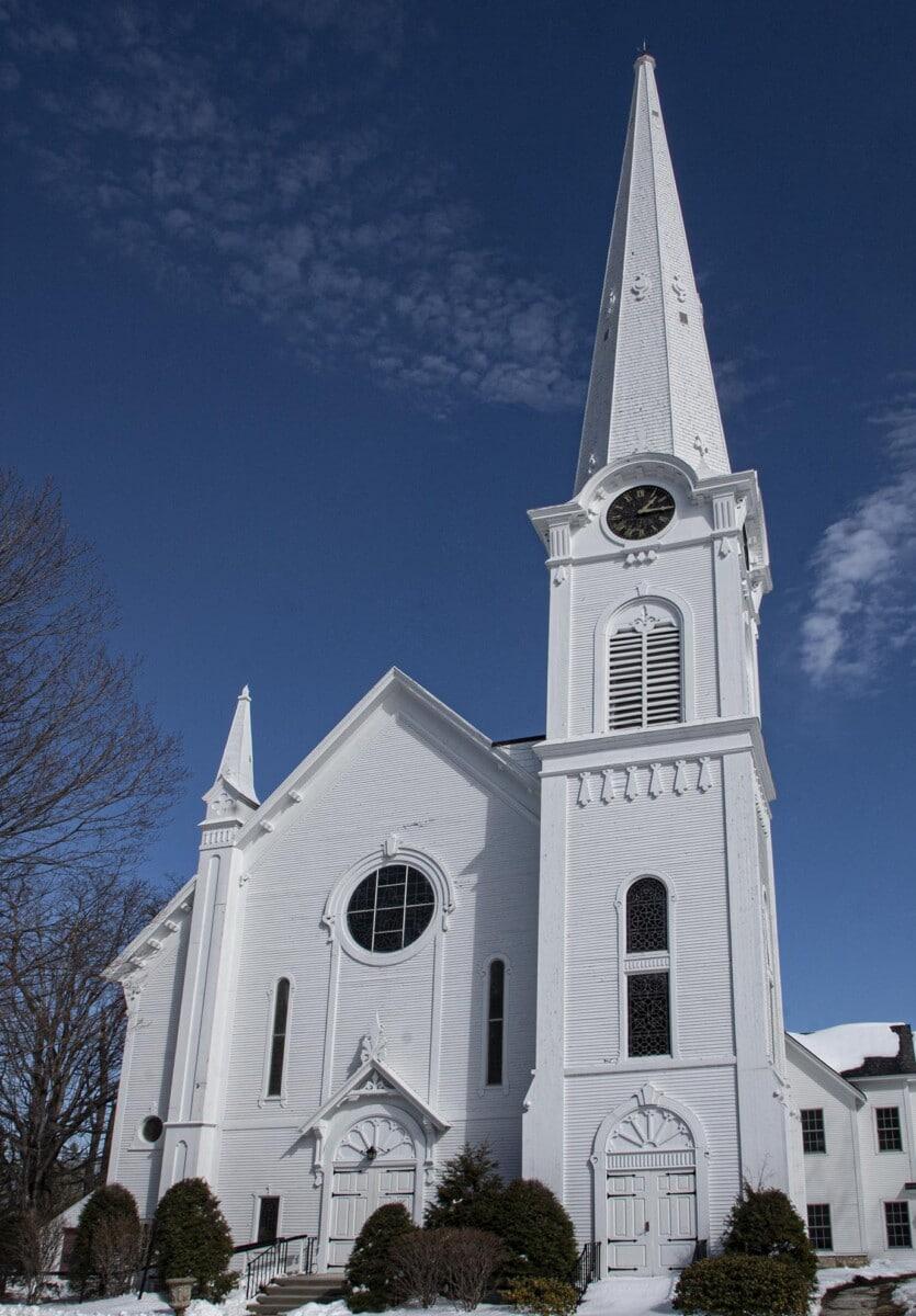 church steeple in Manchester, Vermont