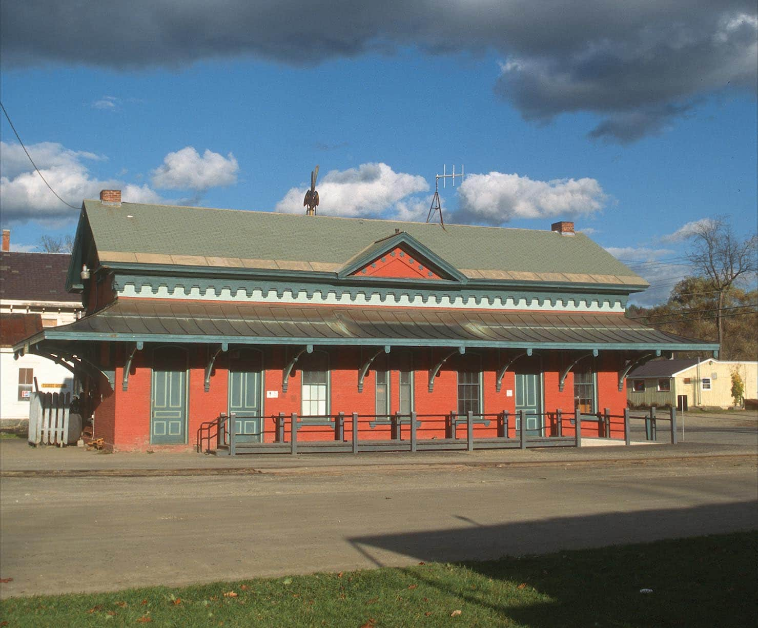 Vintage railroad station in Chester, Vermont