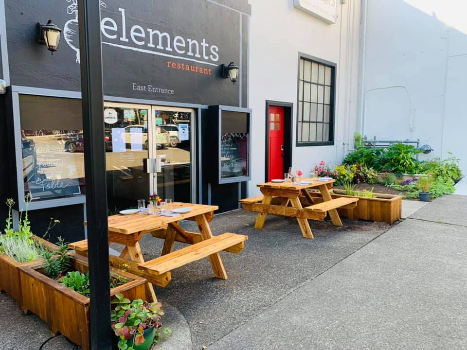 Parklet at Elements foodie finds in Vancouver