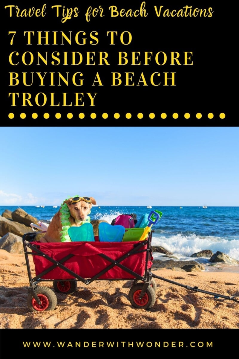 Thinking of buying a beach trolley to haul all of those beach toys for your family escape at the beach? Here are crucial things to consider before buying a beach trolley—or a beach wagon—to ensure you've made the right choice.
