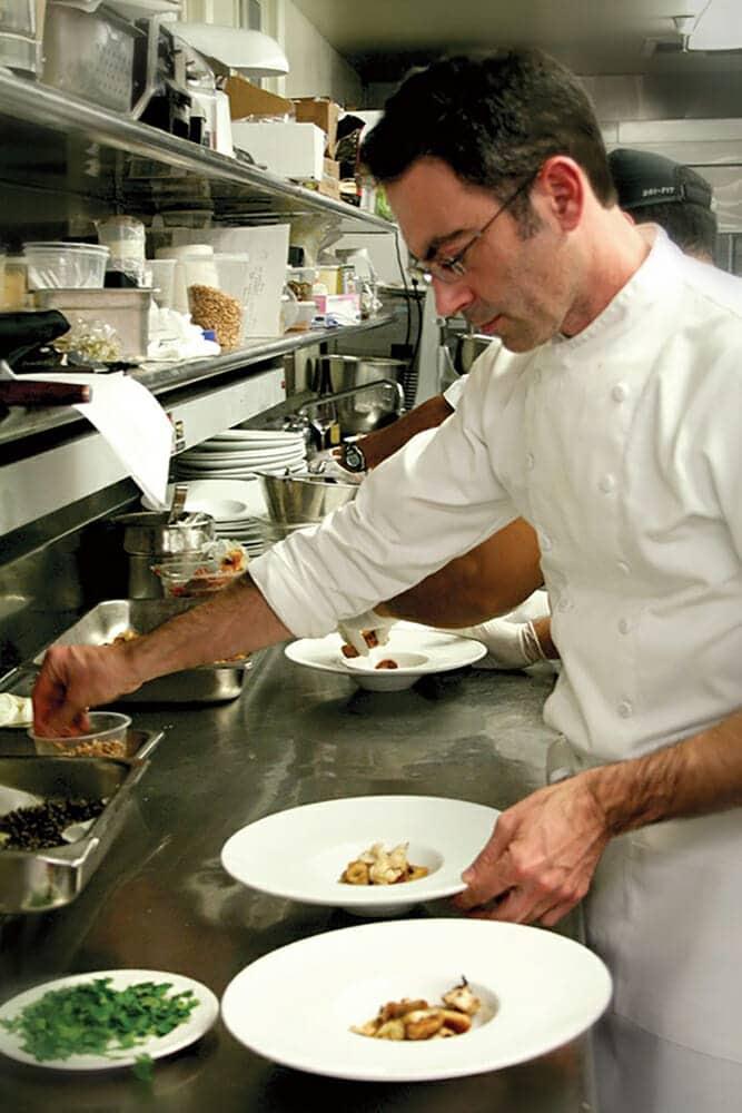 Pietro Buttitta in a kitchen - Prima Materia Boutique Winery