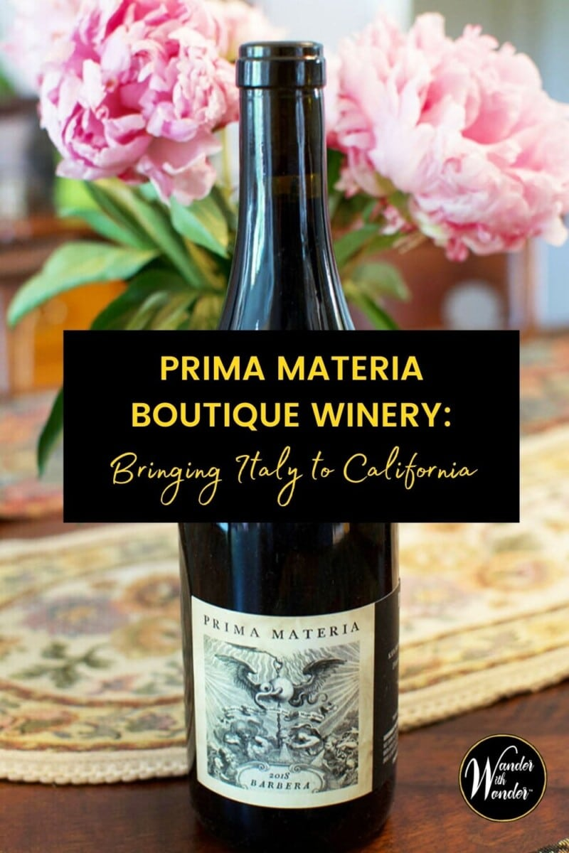 Whether you are celebrating California Wine Month or enjoying California wines any month of the year, be sure to check out the state's boutique wineries. Prima Materia, under the guidance of owner/winemaker Pietro Buttitta, grows great Italian grape varieties in Lake County, California.