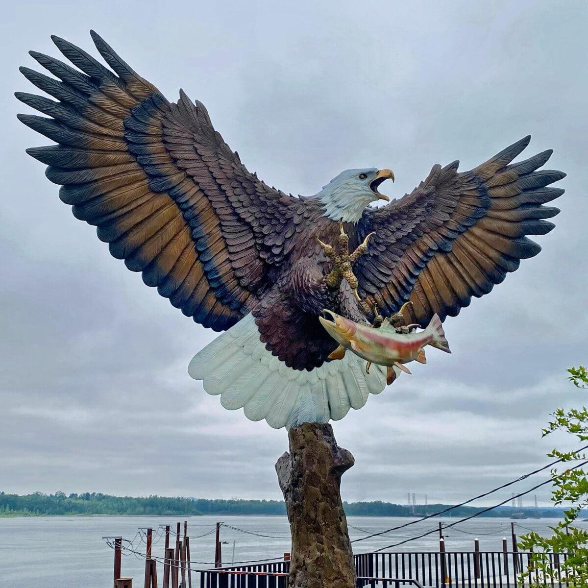Eagle on the Columbia