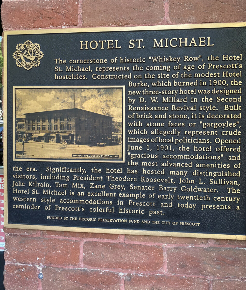 Hotel St. Michael Plaque